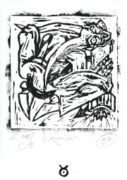 ROOSTER 2020, Limited Linocut