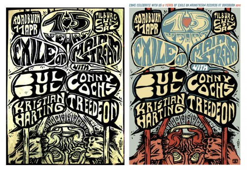 Offset-Poster Prints for the Roadburn Festival